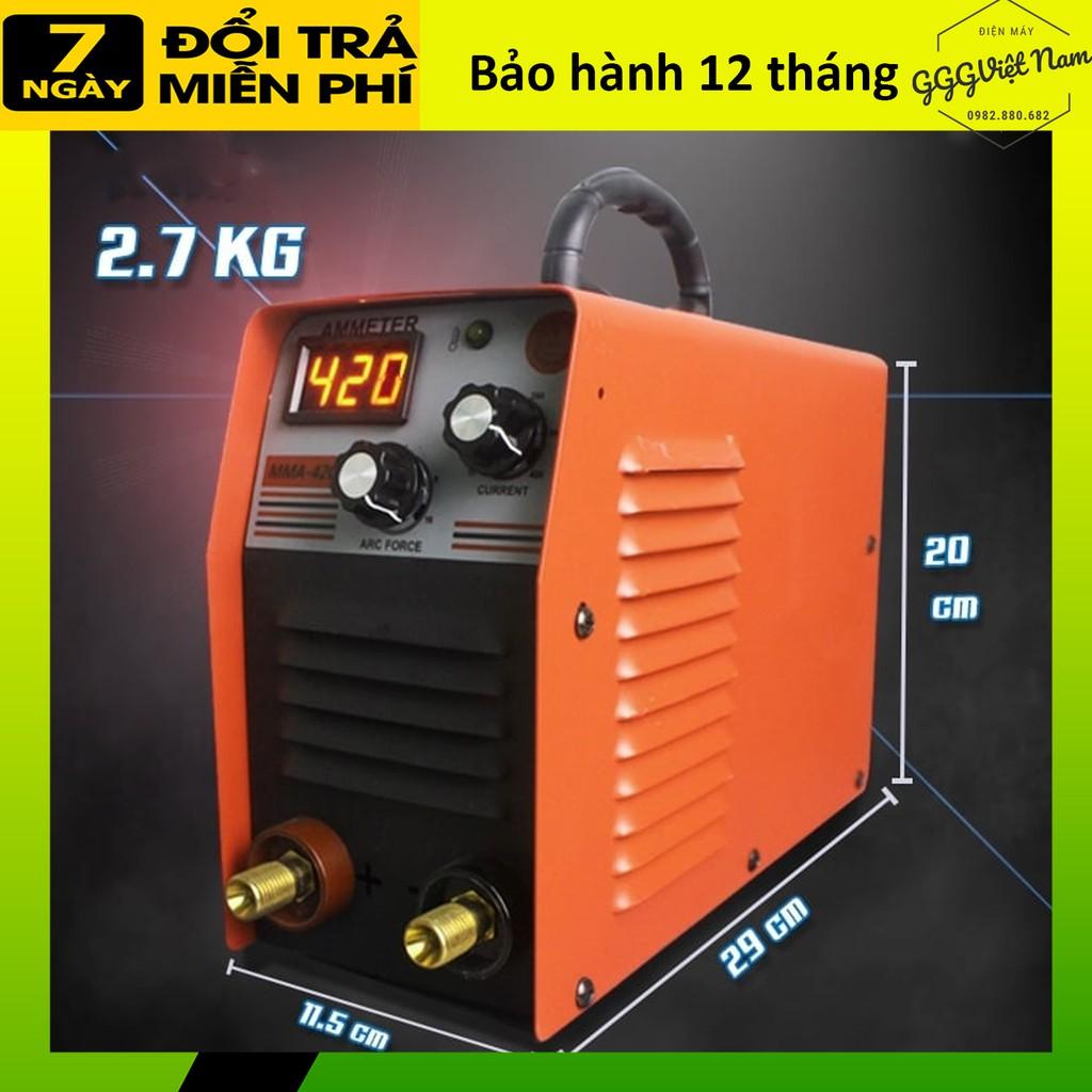 [Cho thử máy]  MÁY HÀN ĐIỆN TỬ GGG 420, hàn mini, hàn que 1.6 đến 2.5, kéo mượt, phụ kiện đầy đủ, mẫu mới 2021