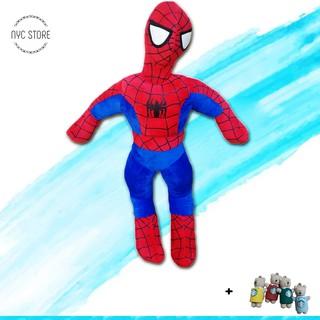 [Vải xịn] Gấu bông người nhện spiderman 85cm chất lượng VNXK + Tặng móc khóa