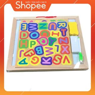 Bảng chữ số đa năng nam châm cho bé vừa học vừa chơi bằng gỗ bích Vivitoys