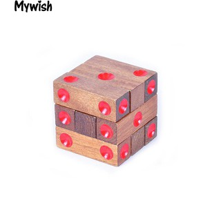 👶Novelty Cubic Blocks Brain Teaser Lock Puzzle Game Educational Toy Kid Adult