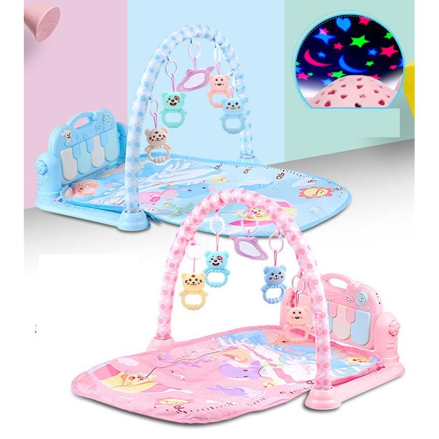 Thảm nằm có nhạc và đồ chơi cho bé, an toàn, thoả