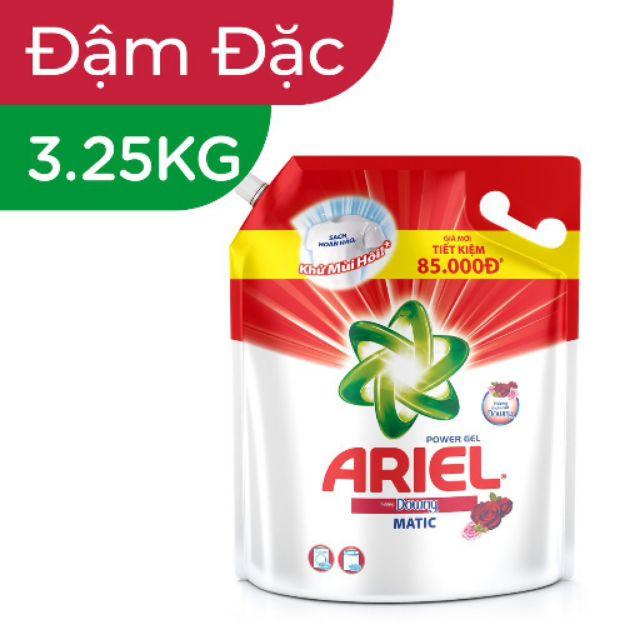 Nước Giặt Ariel Đậm Đặc Túi 3.25kg và 3.6kg