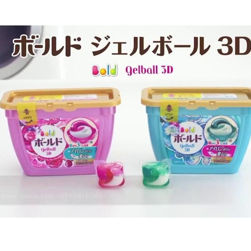 ( mẫu mới ) Viên Giặt Xả GELL BALL Bold 3D viên giặt Nhật Bản ( 2 in 1 )