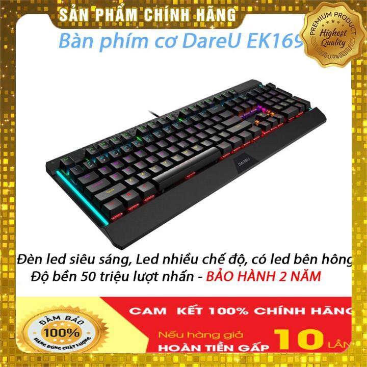 Bàn phím cơ DareU EK169 104KEY - Blue/ Brown/ Red D switch, BẢO HÀNH 24 THÁNG TOÀN QUỐC