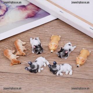 2 Mô hình cún ngủ đáng yêu chuyên dụng trang trí tiểu cảnh thumbnail