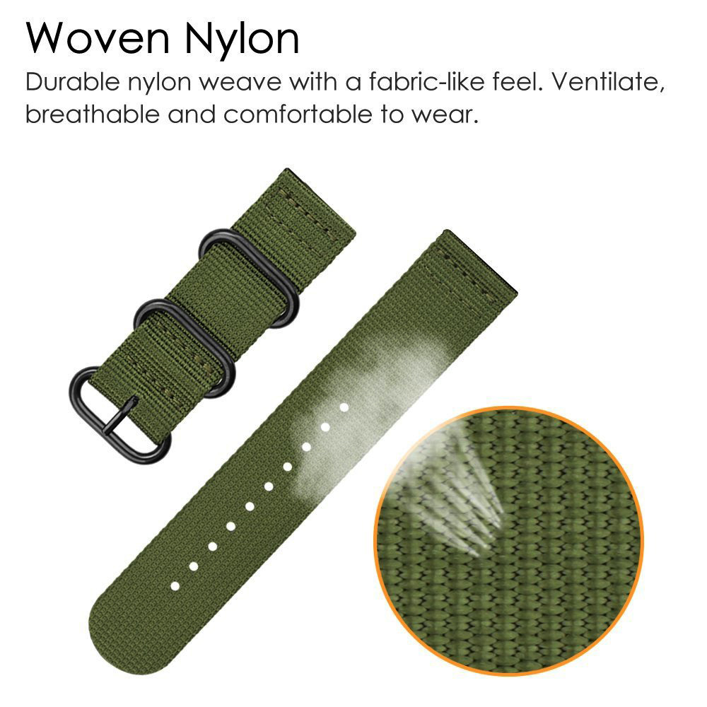 Dây Đồng Hồ Đeo Tay 18-24mm Bằng Nylon Phong Cách Thể Thao