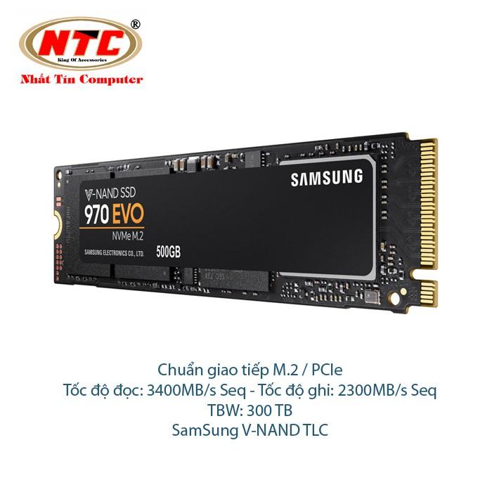 Ổ Cứng SSD Samsung 970 EVO M2 500GB - Chuẩn giao tiếp PCIe Gen 3×4 (đen) - 2515735 , 1227963518 , 322_1227963518 , 8700000 , O-Cung-SSD-Samsung-970-EVO-M2-500GB-Chuan-giao-tiep-PCIe-Gen-34-den-322_1227963518 , shopee.vn , Ổ Cứng SSD Samsung 970 EVO M2 500GB - Chuẩn giao tiếp PCIe Gen 3×4 (đen)