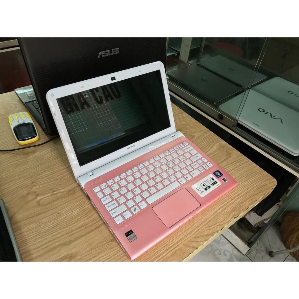 [Nhập ELCLMAY hoàn 30K xu đơn từ 200K][Quá Rẻ ] Siêu Phẩm laptop mini SVE 11 hồng Màn 11inch Mỏng...