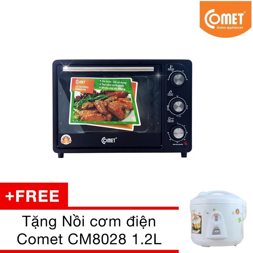 Lò nướng COMET CM6516 18L Tặng Nồi cơm điện Comet CM8028 1.2L