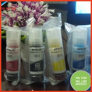☘️Mực in màu 003 Epson L1110, L3110, L3150,L4150,L1110- mã 003 (Đen/xanh/đỏ/vàng) nhập khẩu