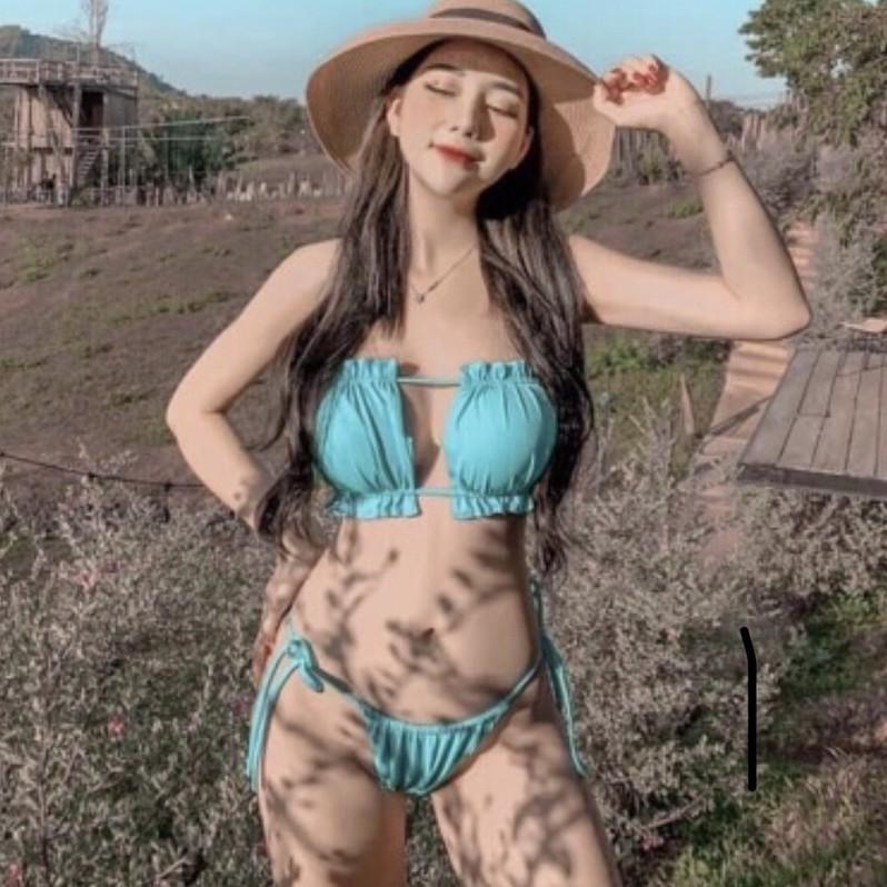 Bikini 2 mảnh nhún Ngọc Trinh- cực secxy quyến rũ- bộ bơi không thể thiếu  trong bộ sưu tập đồ bơi nữ Bikinistore | Shopee Việt Nam
