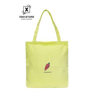 Túi Vải Đeo Vai Tote Bag Cà Rốt Xanh Chuối XinhStore thumbnail