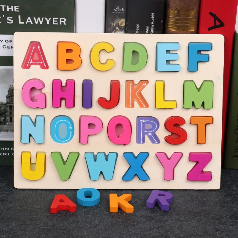 Combo 4 Bảng chữ cái bằng gỗ 3D - TG13