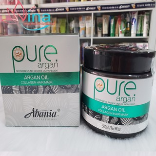 HẤP Ủ TÓC PHỤC HỒI ABANIA PURE ARGAN MASK HAIR 500ML thumbnail