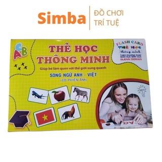 Bộ thẻ học thông minh cho bé 400 thẻ với 16 chủ đề giúp trẻ hiểu biết thế giới xung quanh