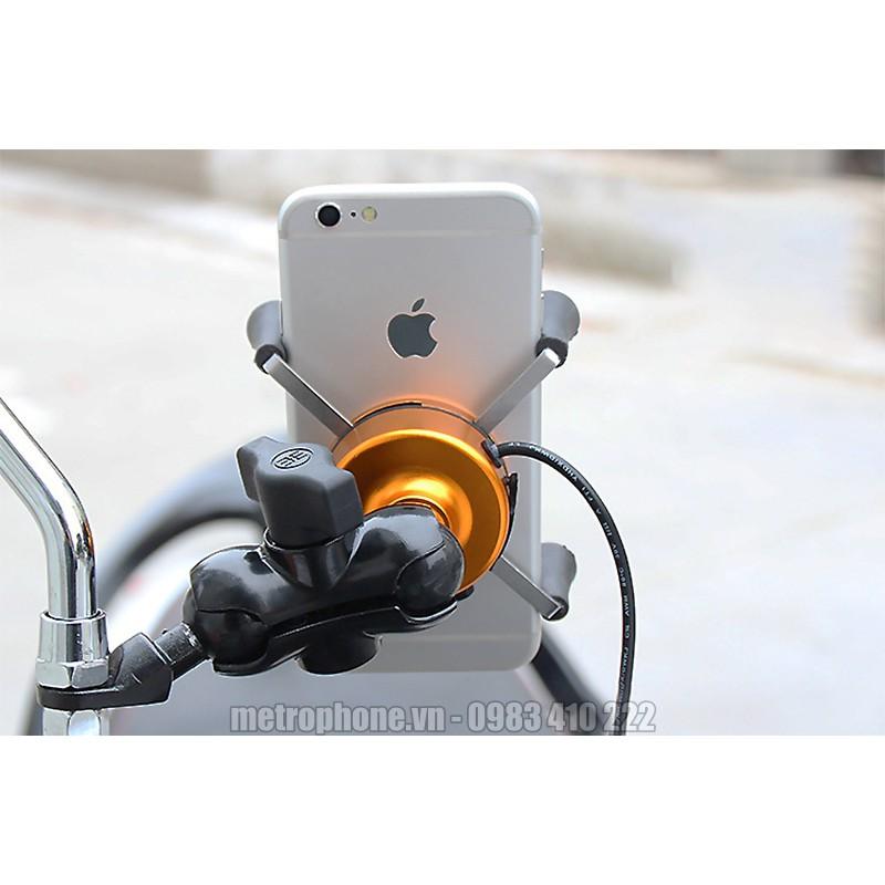 Giá đỡ điện thoại trên xe máy và mô tô