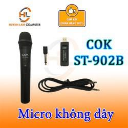 Micro không dây COK St-902B Karaoke âm thanh sống động - 15003848 , 2698375376 , 322_2698375376 , 122500 , Micro-khong-day-COK-St-902B-Karaoke-am-thanh-song-dong-322_2698375376 , shopee.vn , Micro không dây COK St-902B Karaoke âm thanh sống động