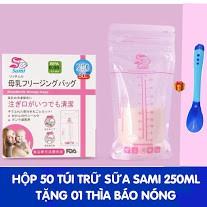 Túi trữ sữa Sami Nhật Bản - Tặng thìa báo