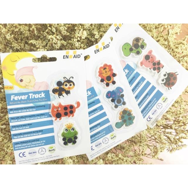 Combo 10 vỉ nhiệt kế dán trán Fever Track (01