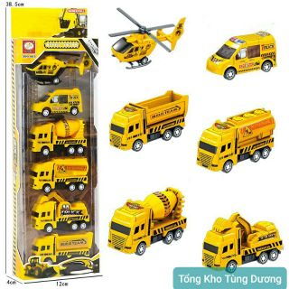 Set 6 ô tô mô hình công trình xây dựng cho bé