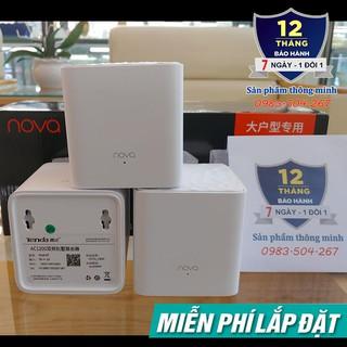 Bộ 3 Cục Wifi Mesh không dây Tenda Nova MW3 – Ghép nối nhiều thiết bị cùng 1 tên wifi
