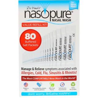 Muối rửa mũi xoang cao cấp Nasopure nhập khẩu từ Mỹ – Value Refill Kit (80 gói muối)