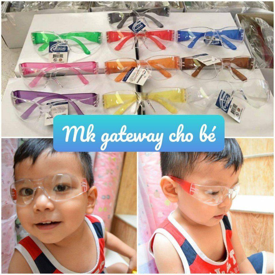 Mắt kính Gateway chống bụi & nắng cho bé và người lớn xách tay Mỹ. Không chọn màu