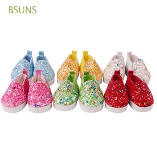 BSUNS 1Pair Fashion Small Shoes Children Toys Sequin Birthday Gifts Doll Shoes