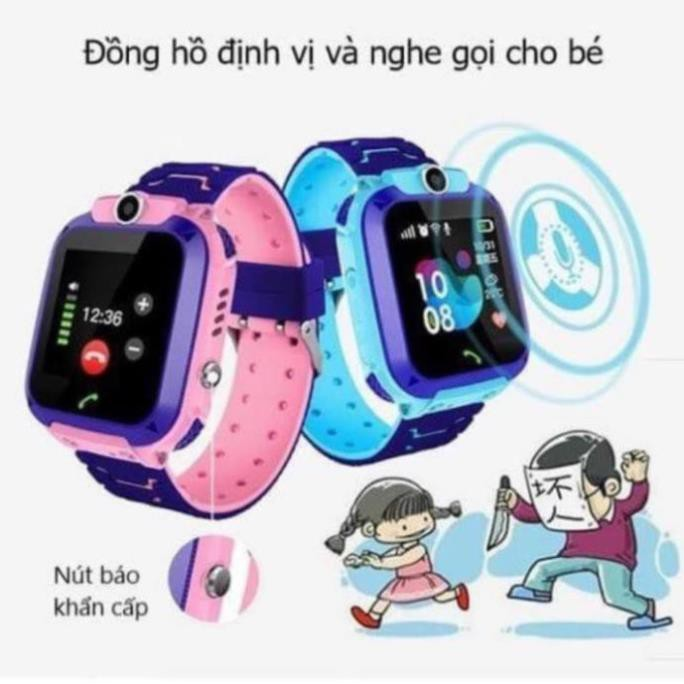 Đồng hồ định vị trẻ em Q12 chống nước có camera - bảo hành 12 tháng 1 đổi 1 I LOVE CASE [vthm9]