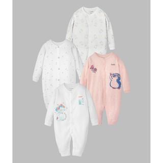 Romper sơ sinh BAA BABY dài tay, bộ quần áo liền dễ thương cho bé gái - GN-RP01D thumbnail