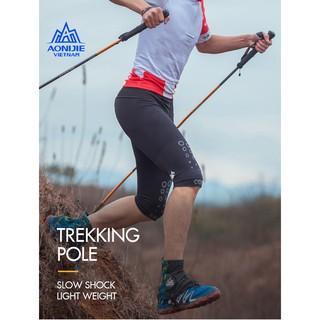 Gậy leo núi cho chạy trail, trekking gấp khúc Aonijie E4102 sử dụng hợp kim nhôm 7075 và cacbon dễ dàng thuận tiện thumbnail