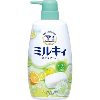Sữa tắm hương hoa cam chanh milky body soap cow 550ml Nhật Bản