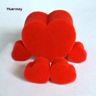 ★Hu 5Pcs/Set Close-Up Magic Street Classical Comedy Trick Soft Red Sponge Heart