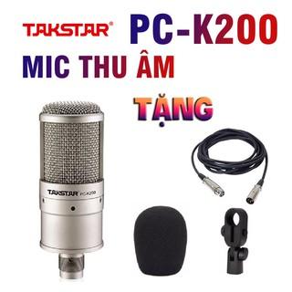 Mic thu âm TAKSTAR PC-K200 chuyên nghiệp - Mic livestream - Mic karaoke PC K200, BẢO HÀNH 1 NĂM thumbnail