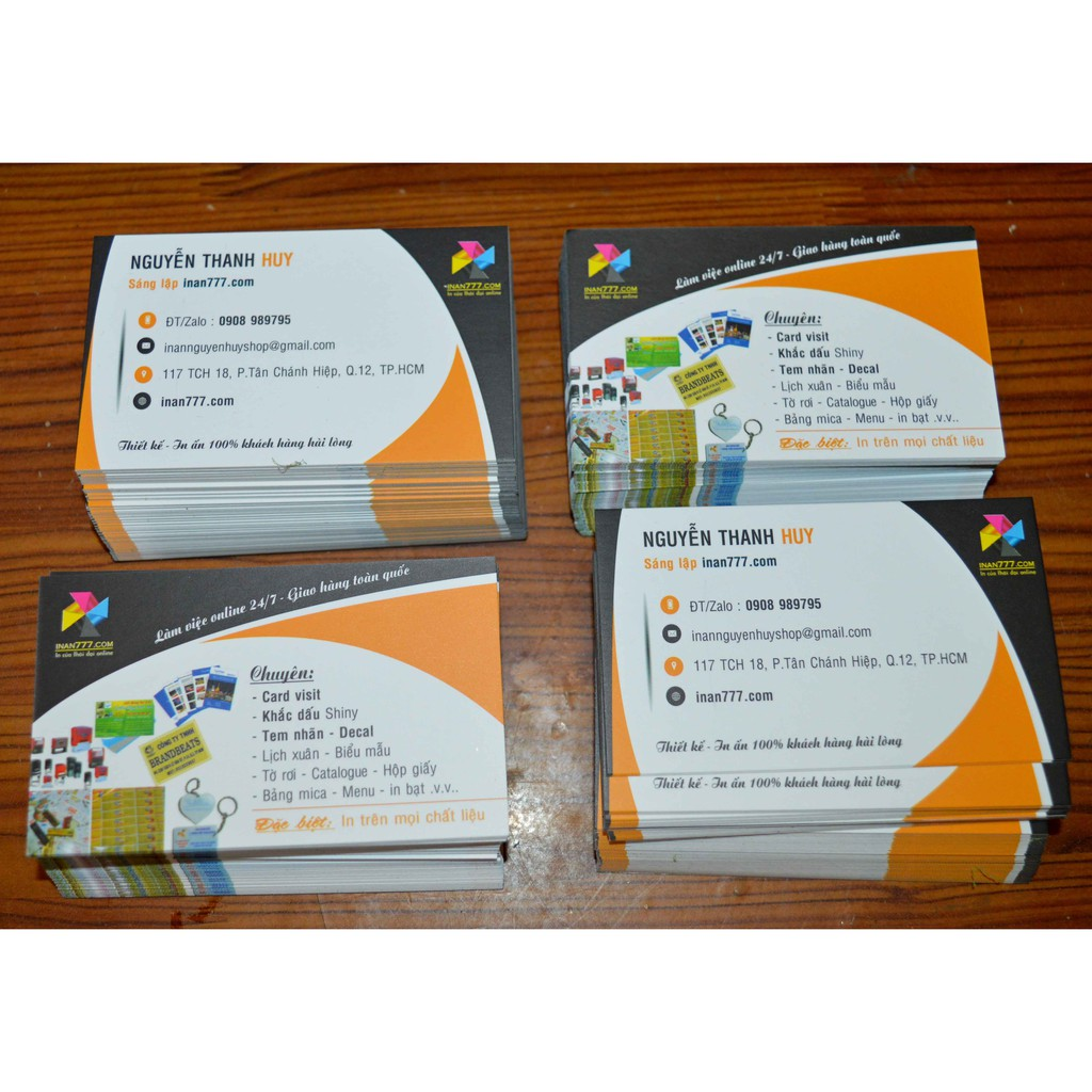 In card visit in name card in danh thiếp giá rẻ tại TPHCM