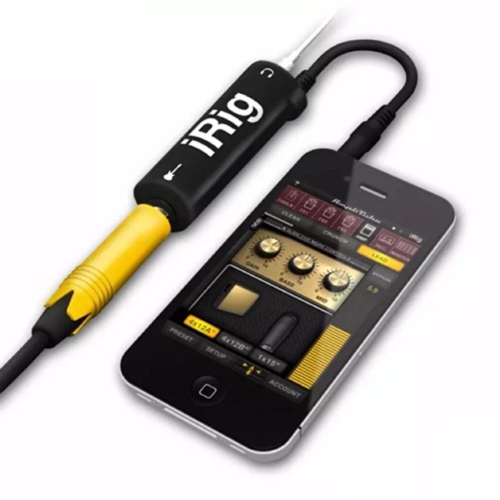 Cáp kết nối đàn guitar với điện thoại iRig AmpliTube -dc1162.