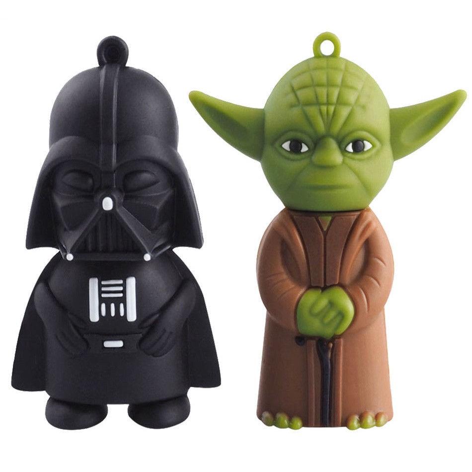 Star wars cartoon usb flash drive 8gb 16gb 32gb 64g Darth Vader/ Yoda Pendrive Giá chỉ 170.000₫