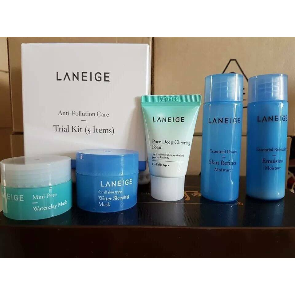 Bộ Laneige Anti-Pollution Care Trial Kit