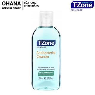 Nươ c Hoa Hô ng Ngư a Mu n, Se Lô Chân Lông Tra m Tra T-zone Antibacterial Cleanser 200ml