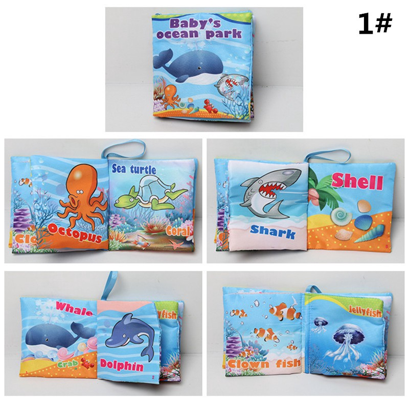 Intelligence Development Soft Cloth Cognize Book Educational Musical Toy