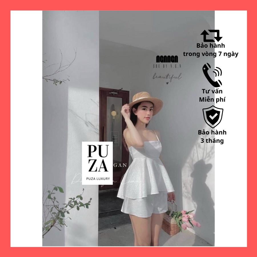 Mặc gì đẹp: Gọn tiện với Đồ đi biển nữ, đồ mặc ở nhà, sét áo 2 dây chất đũi mềm mịn thoáng mát - Puza