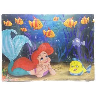 [Mã TOYFSS4 giảm 15k] Tranh xếp hình A3, 48 mảnh ghép: Nàng Tiên cá, ba nàng công chúa, Aladin. Đồ chơi trí tuệ cho bé