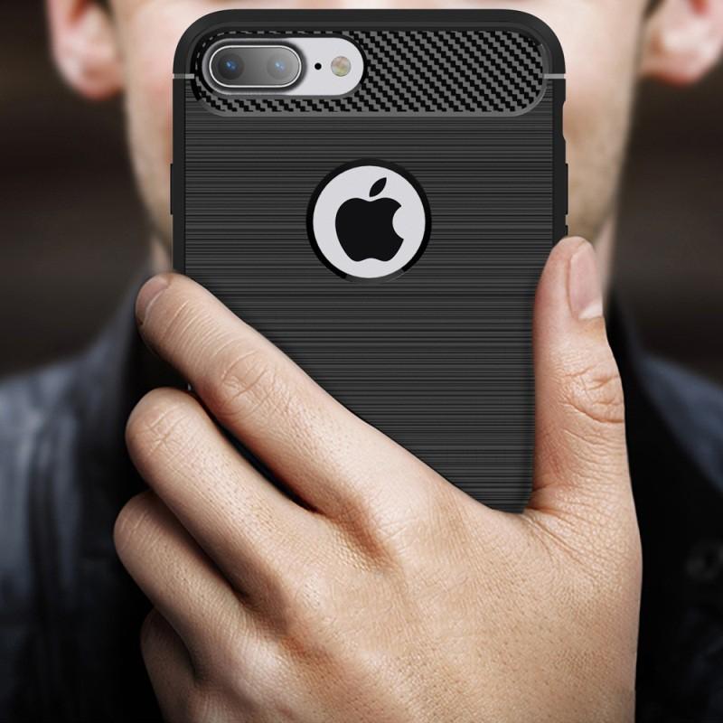 Ốp điện thoại silicon chống sốc thiết kế sợi carbon sang trọng dành cho IPhone 7 / 7 +