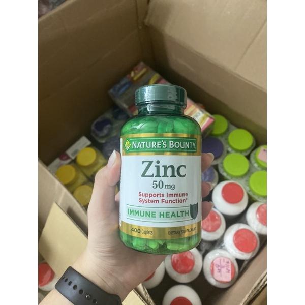 Viên uống bổ sung kẽm ZinC Nature's Bounty 50mg