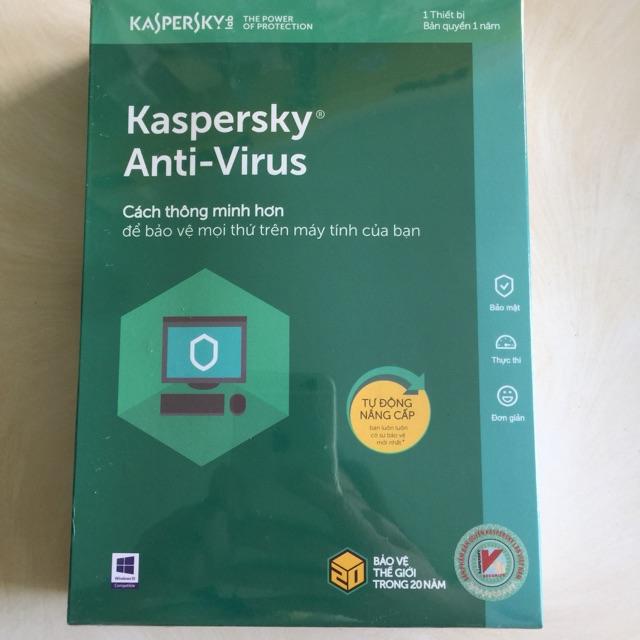 Phần mềm diệt virut kaspersky – 3PC Giá chỉ 350.000₫