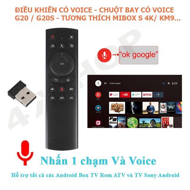 Điều khiển Chuột bay tìm kiếm giọng nói Air Mouse Remote Voice G20 / G20S - Tương thích Mibox S / KM9