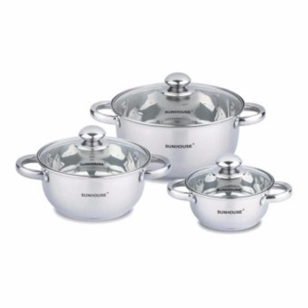 Bộ 3 nồi inox 3 đáy bếp từ SUNHOUSE SH334 (Màu trắng) - 3387806 , 964043774 , 322_964043774 , 569000 , Bo-3-noi-inox-3-day-bep-tu-SUNHOUSE-SH334-Mau-trang-322_964043774 , shopee.vn , Bộ 3 nồi inox 3 đáy bếp từ SUNHOUSE SH334 (Màu trắng)