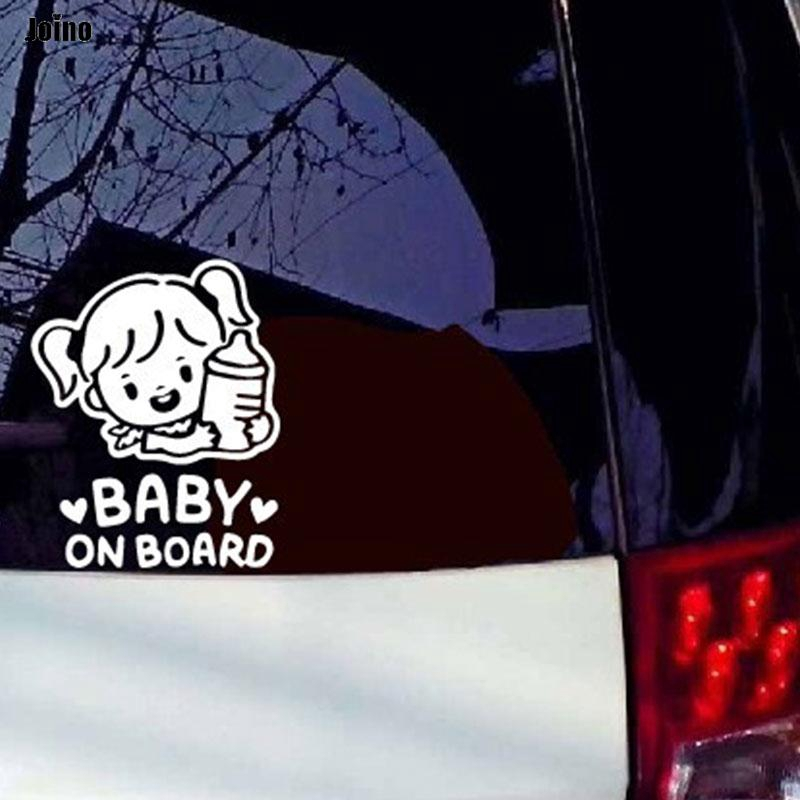Ready Stock✈ Car Creative Sticker Car Sticker Decal Individualized Auto Baby on Board Warning