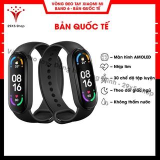 [ Bản quốc tế ] Vòng đeo tay thông minh Xiaomi Mi band 6 - Vòng tay theo dõi sức khoẻ, tập luyện thể thao - Màu đen thumbnail