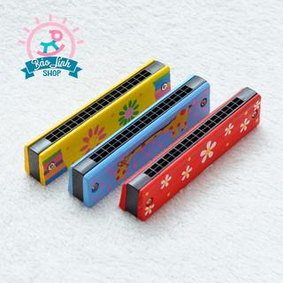 [Mã TOYDEC giảm 10% tối đa 15K đơn từ 50K] Kèn Acmonica gỗ cho bé| Đồ chơi an toàn